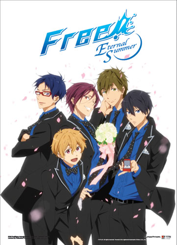 Free! 2 - Group In Suits Wallscroll, an officially licensed product in our Free! Wall Scroll Posters department.