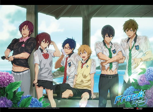 Free! 2 - Wet Clothes Wall Scroll, an officially licensed product in our Free! Wall Scroll Posters department.
