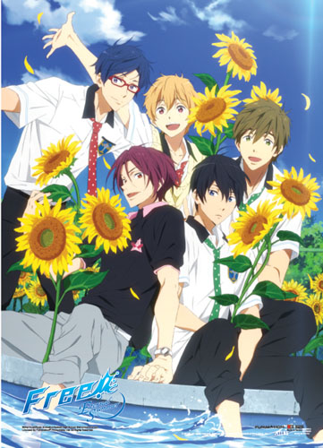 Free! 2 - Sunflowers Wallscroll, an officially licensed product in our Free! Wall Scroll Posters department.