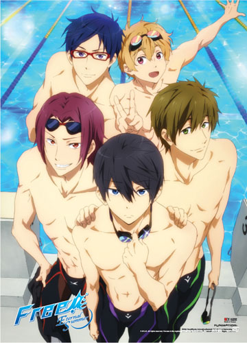 Free! 2 - Poolside Wall Scroll, an officially licensed product in our Free! Wall Scroll Posters department.