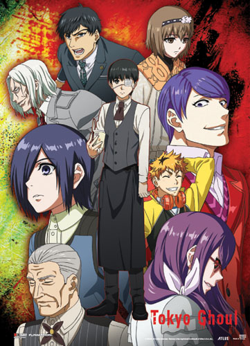 Tokyo Ghoul - Group Wallscroll officially licensed Tokyo Ghoul Wall Scroll Posters product at B.A. Toys.