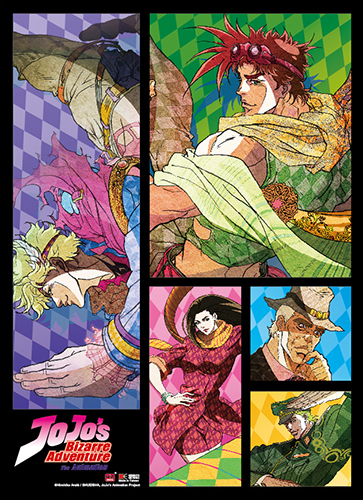 Jojo - Group Wallscroll, an officially licensed product in our Jojo'S Bizarre Adventure Wall Scroll Posters department.