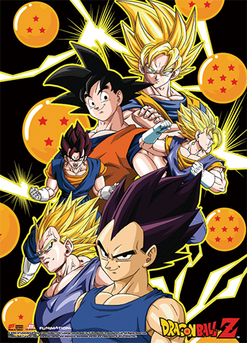 Dragon Ball Z - Vegeta & Goku Wall Scroll officially licensed Dragon Ball Z Wall Scroll Posters product at B.A. Toys.
