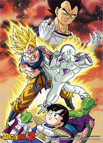 Dragon Ball Z - Goku Vs. Frieza Wall Scroll officially licensed Dragon Ball Z Wall Scroll Posters product at B.A. Toys.