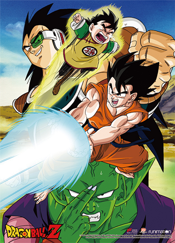 Dragon Ball Z - Goku Group Wall Scroll officially licensed Dragon Ball Z Wall Scroll Posters product at B.A. Toys.