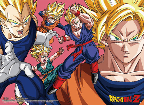 Dragon Ball Z - Saiyan Group Wall Scroll officially licensed Dragon Ball Z Wall Scroll Posters product at B.A. Toys.