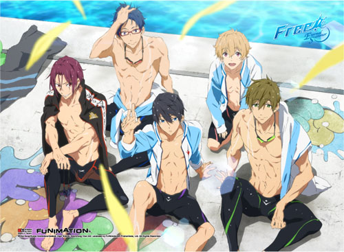 Free! 2 - Group 3 Wall Scroll, an officially licensed product in our Free! Wall Scroll Posters department.