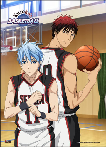 Kuroko's Basketball - Kuroko & Kagami Ball Court Wall Scroll, an officially licensed product in our Kuroko'S Basketball Wall Scroll Posters department.