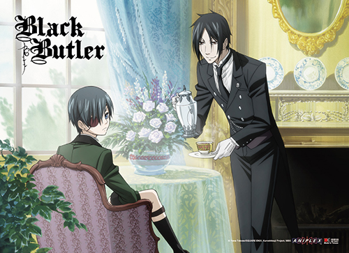 Black Butler - Sebastian & Ciel Tea Time Wall Scroll, an officially licensed product in our Black Butler Wall Scroll Posters department.
