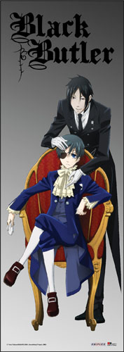 Black Butler - Sebastian & Ciel Human Size Wall Scroll, an officially licensed product in our Black Butler Wall Scroll Posters department.