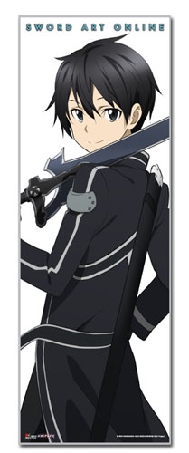 Sword Art Online - Kirito Human Size Wall Scroll, an officially licensed product in our Sword Art Online Wall Scroll Posters department.