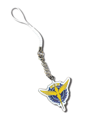 Gundam 00 Celestial Being Cell Phone Charm, an officially licensed product in our Gundam 00 Costumes & Accessories department.