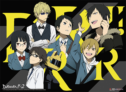Durarara!!x2 - Group 01 Wall Scroll officially licensed Durarara!! Wall Scroll Posters product at B.A. Toys.