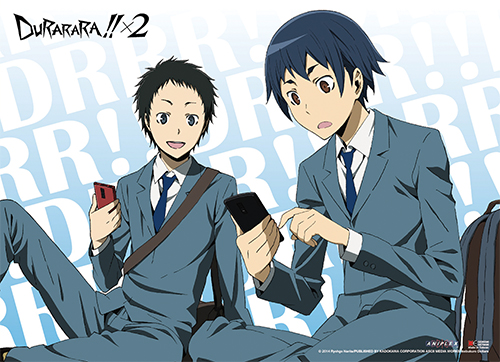 Durarara!!x2 - Mikado & Aoba Wall Scroll officially licensed Durarara!! Wall Scroll Posters product at B.A. Toys.