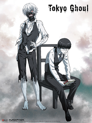 Tokyo Ghoul - Kaneki 01 Wall Scroll officially licensed Tokyo Ghoul Wall Scroll Posters product at B.A. Toys.