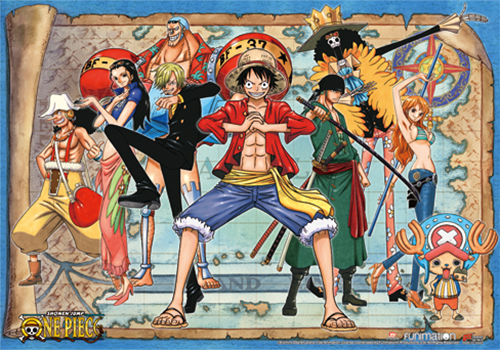 One Piece - New World Luffy Group 02 Wall Scroll, an officially licensed product in our One Piece Wall Scroll Posters department.