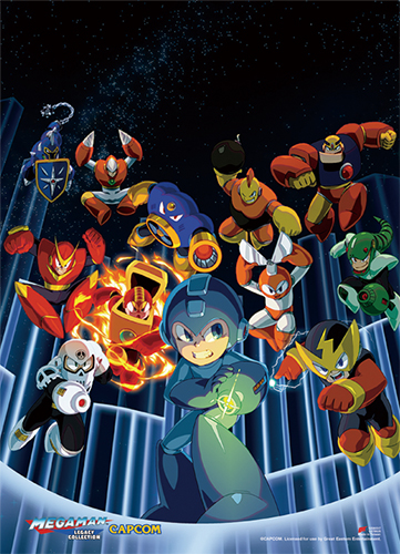 Megaman Classic - Group 01 Wall Scroll, an officially licensed product in our Mega Man Wall Scroll Posters department.