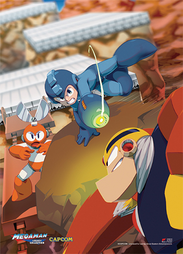 Mega Man Classic - Group 02 Wall Scroll, an officially licensed product in our Mega Man Wall Scroll Posters department.