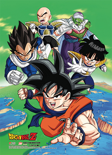 Dragon Ball Z - Goku Group 02 Wall Scroll officially licensed Dragon Ball Z Wall Scroll Posters product at B.A. Toys.