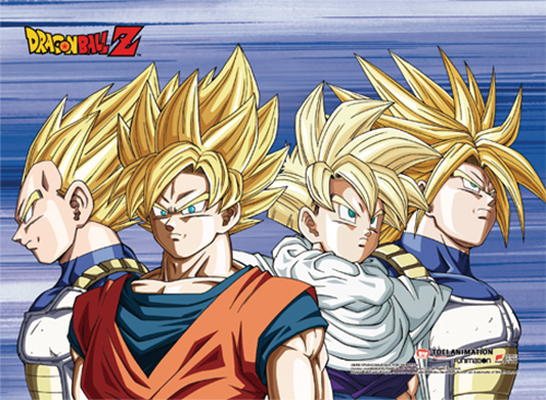 Dragon Ball Z - Goku Group 03 Wall Scroll officially licensed Dragon Ball Z Wall Scroll Posters product at B.A. Toys.