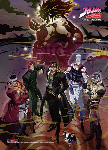 Jojo - S3 Group Wall Scroll, an officially licensed product in our Jojo'S Bizarre Adventure Wall Scroll Posters department.