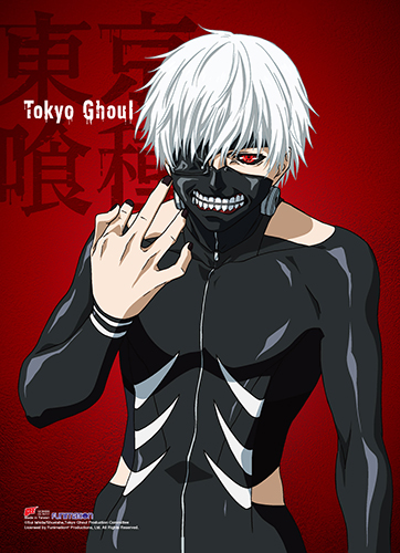 Tokyo Ghoul - Kaneki Wall Scroll officially licensed Tokyo Ghoul Wall Scroll Posters product at B.A. Toys.