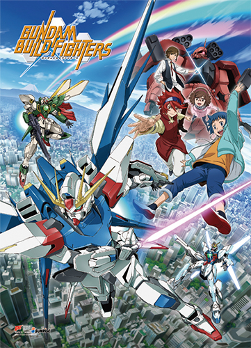 Gundam Build Fighters - Key Art Wall Scroll, an officially licensed product in our Gundam Build Fighters Try Wall Scroll Posters department.