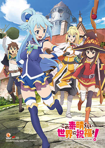 Konosuba - Key Art Wall Scroll, an officially licensed product in our Konosuba Wall Scroll Posters department.