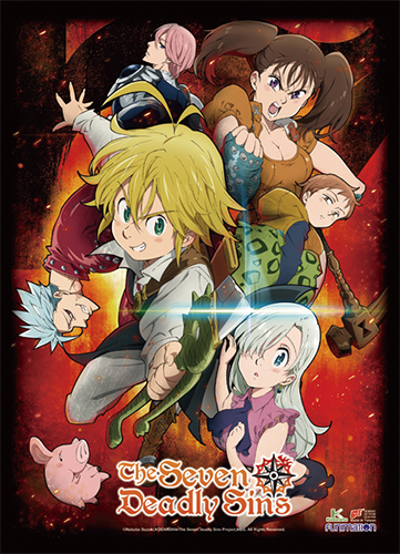 The Seven Deadly Sins - Key Art 1 Wall Scroll officially licensed The Seven Deadly Sins Wall Scroll Posters product at B.A. Toys.