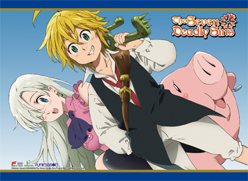 The Seven Deadly Sins - Meliodas, Elizabeth & Hawk 2 Wall Scroll, an officially licensed product in our The Seven Deadly Sins Wall Scroll Posters department.