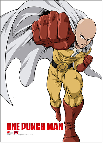 One Punch Man - Saitama 2 Wall Scroll, an officially licensed product in our One-Punch Man Wall Scroll Posters department.