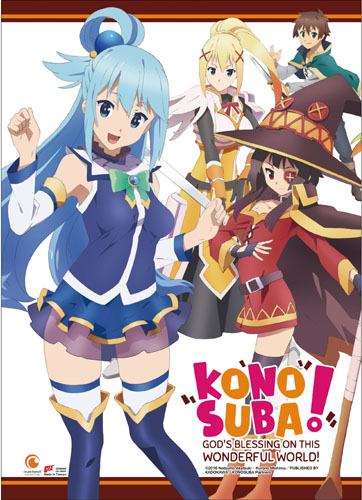 Konosuba - Key Art 2 Wall Scroll, an officially licensed product in our Konosuba Wall Scroll Posters department.