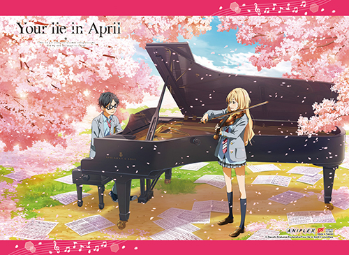 Your Lie In April - Spring Wall Scroll, an officially licensed product in our Your Lie In April Wall Scroll Posters department.