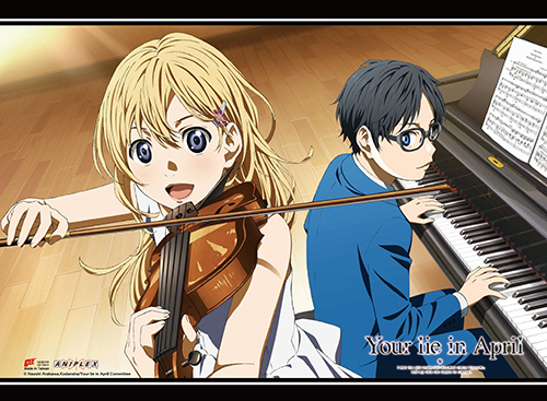 Your Lie In April - Ensemble Wall Scroll, an officially licensed product in our Your Lie In April Wall Scroll Posters department.