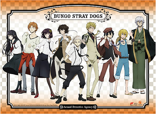 Bungo Stray Dogs - Armed Detective Agency Wall Scroll, an officially licensed Bungo Stray Dogs product at B.A. Toys.
