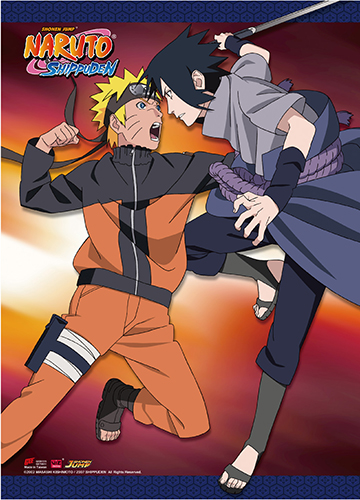 Naruto Shippuden - Naruto V.S Sasuke Wall Scroll, an officially licensed product in our Naruto Shippuden Wall Scroll Posters department.