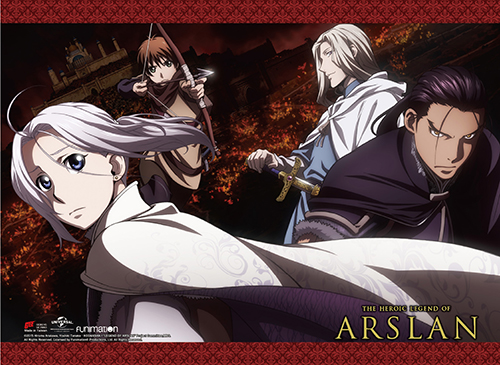 Heroic Legend Of Arslan - Group 01 Wall Scroll, an officially licensed product in our Heroic Legend Of Arslan Wall Scroll Posters department.
