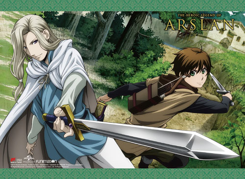 Heroic Legend Of Arslan - Narsus & Elam Wall Scroll, an officially licensed product in our Heroic Legend Of Arslan Wall Scroll Posters department.