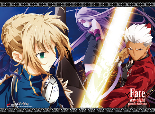 Fate/stay Night - Saber, Archer & Rider Wall Scroll officially licensed Fate/Zero Wall Scroll Posters product at B.A. Toys.