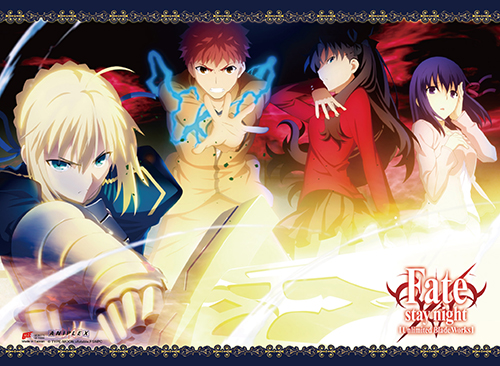 Fate/Stay Night - Group 01 Wall Scroll officially licensed Fate/Zero Wall Scroll Posters product at B.A. Toys.