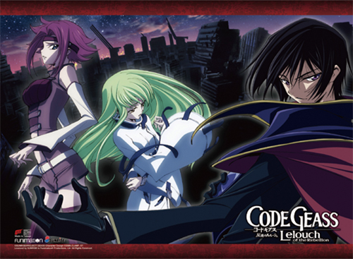 Code Geass - Lelouch & Kallen & Cc Wall Scroll, an officially licensed product in our Code Geass Wall Scroll Posters department.