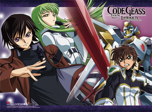 Code Geass - Lelouch & Suzaku & Cc Wall Scroll, an officially licensed product in our Code Geass Wall Scroll Posters department.