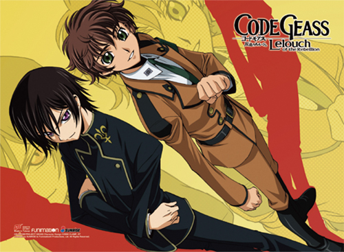 Code Geass - Lelouch & Suzaku Wall Scroll, an officially licensed product in our Code Geass Wall Scroll Posters department.