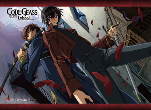 Code Geass - Lelouch & Suzaku 2 Wall Scroll, an officially licensed product in our Code Geass Wall Scroll Posters department.