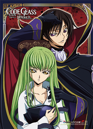 Code Geass - Lelouch & Cc Wall Scroll, an officially licensed product in our Code Geass Wall Scroll Posters department.