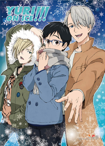 Yuri!!! On Ice - Yuri & Victoru & Yurio 3 Wall Scroll, an officially licensed product in our Yuri!!! On Ice Wall Scroll Posters department.