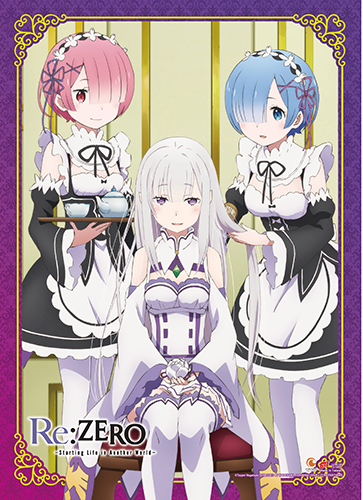 Re:Zero - Emilia, Rem & Ram 1 Wall Scroll, an officially licensed product in our Re-Zero Wall Scroll Posters department.