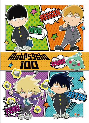 Mob Psycho 100 - Sd Characters Wall Scroll, an officially licensed product in our Mob Psycho 100 Wall Scroll Posters department.