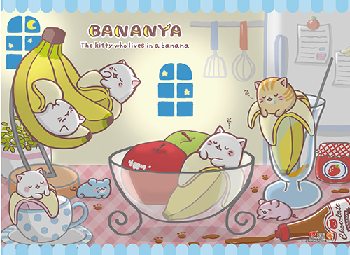 Bananya - Sweet Dreams Wall Scroll, an officially licensed product in our Bananya Wall Scroll Posters department.
