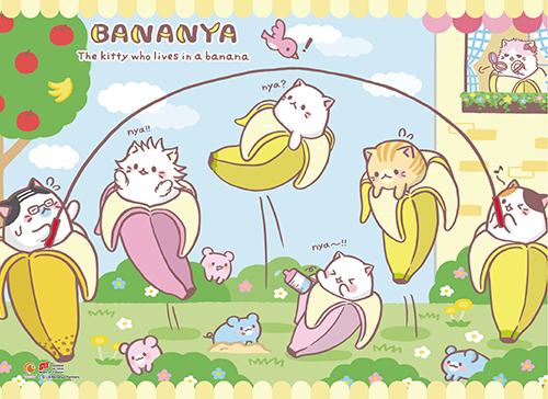 Bananya - Sunny Day Wall Scroll, an officially licensed Bananya product at B.A. Toys.